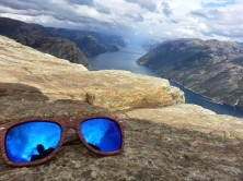 Preikestolen Norway, with blue sunglasses